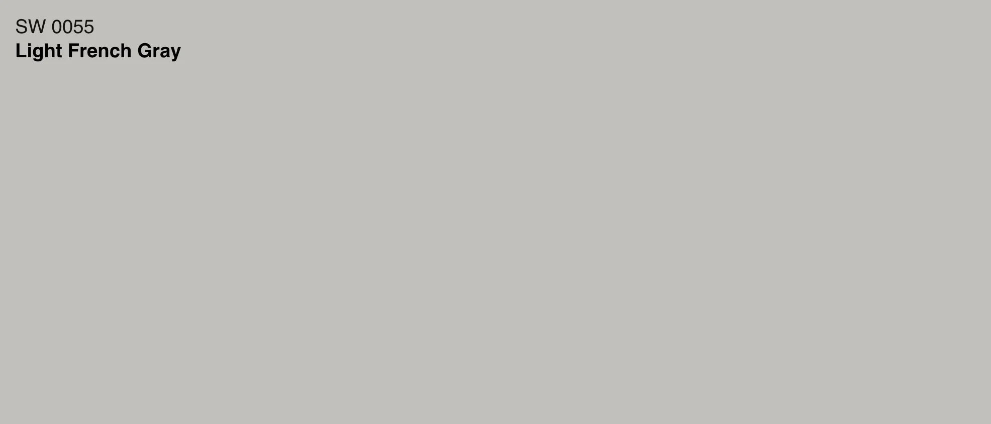SW 0055 Light French Gray color swatch