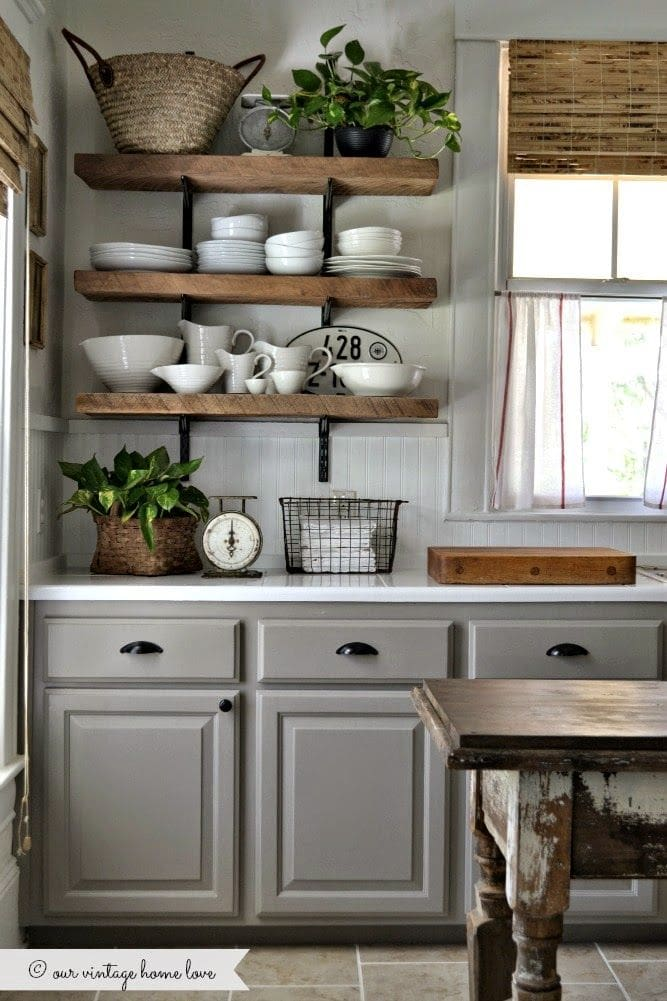 warm gray kitchen cabinet paint color