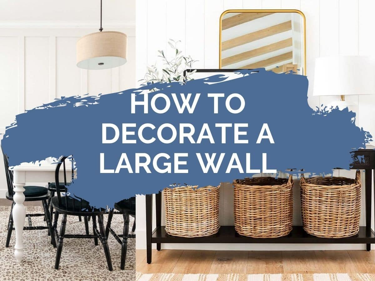 how to decorate a large wall header image with text overlay