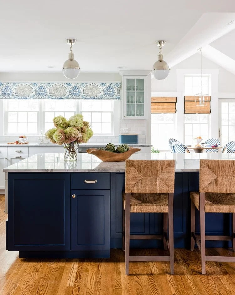 navy blue kitchen cabinet color