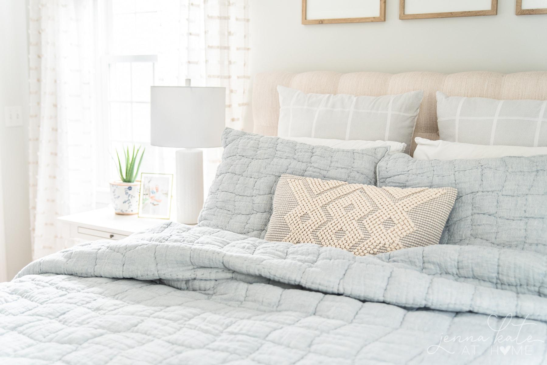 light linen bedding for summer