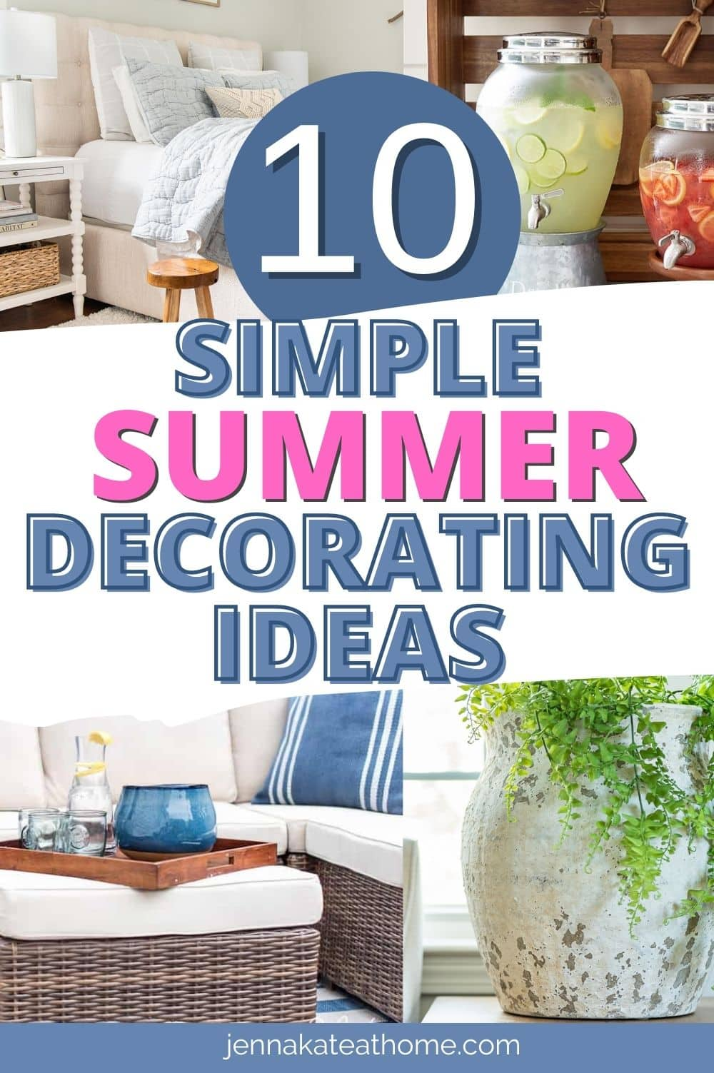 summer decorating ideas pin