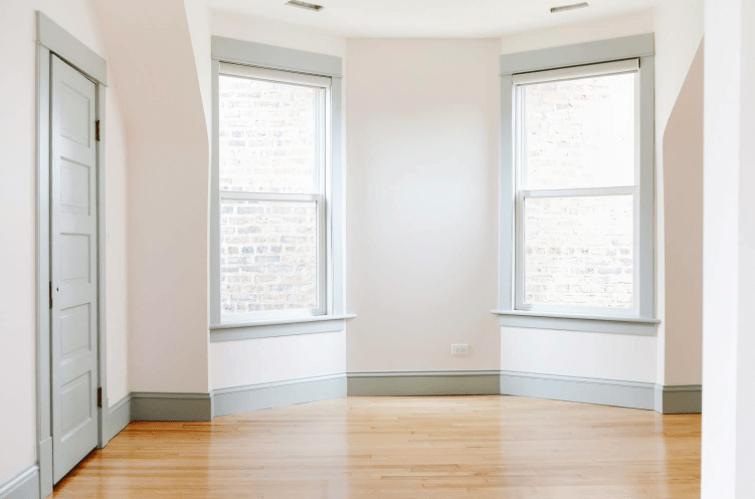 Gray window trim
