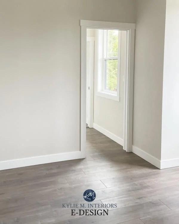classic gray hallway