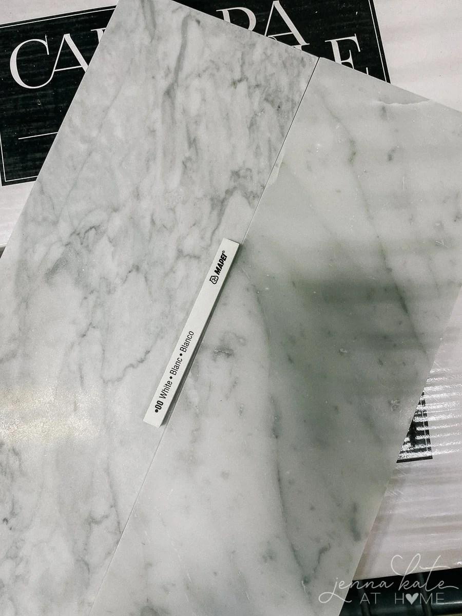 picking a grout color for the backsplash tile