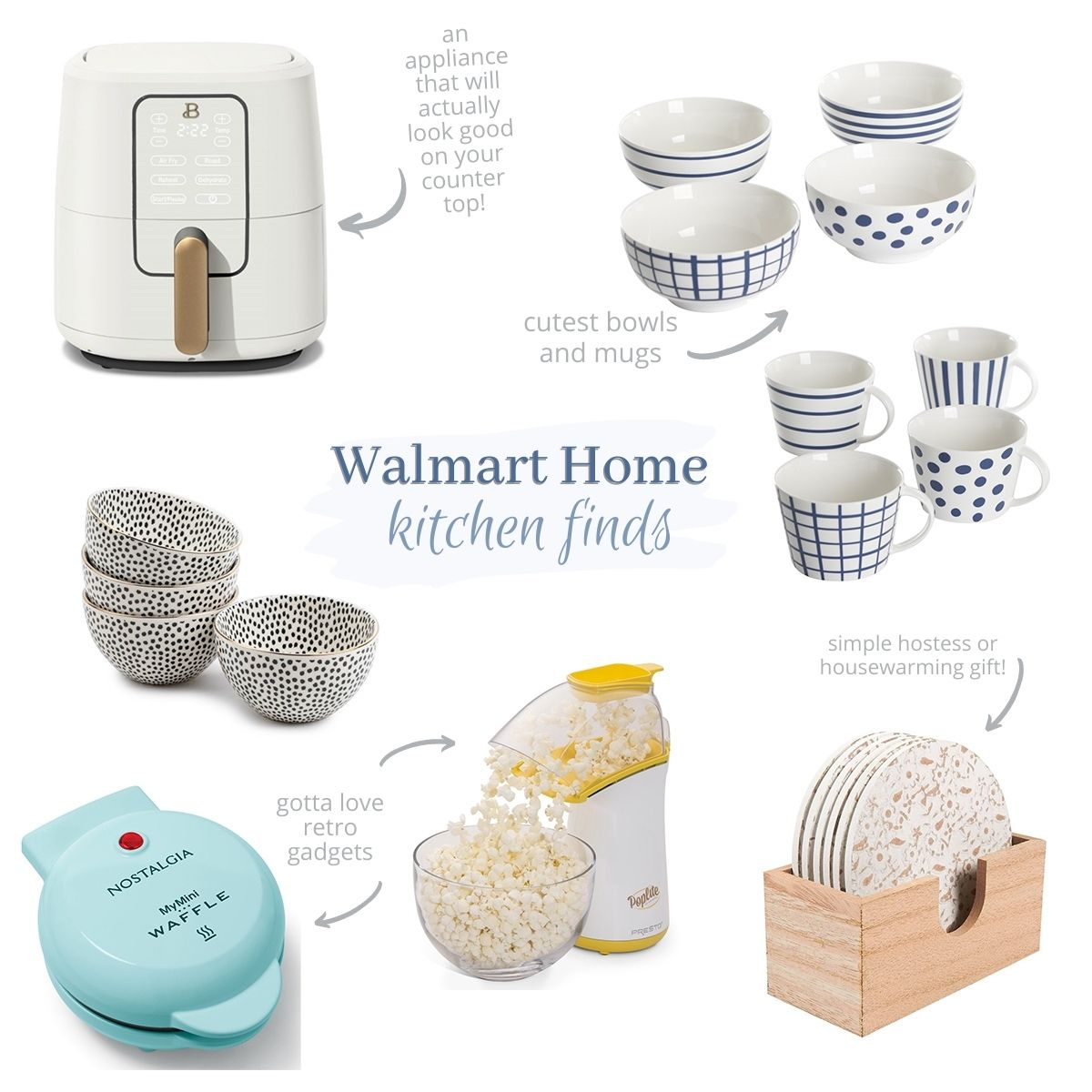 Diagramcollage of products from Walmart