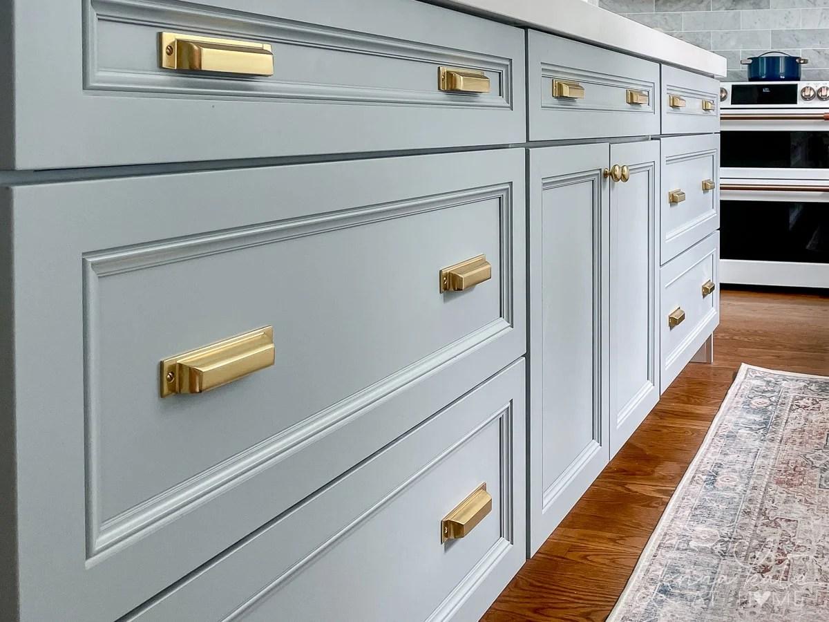 brass kitchen drawer pulls