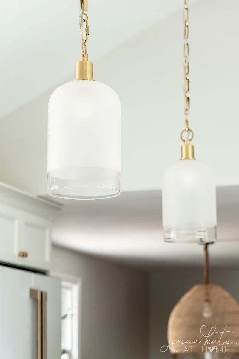 simple frosted glass pendant lights