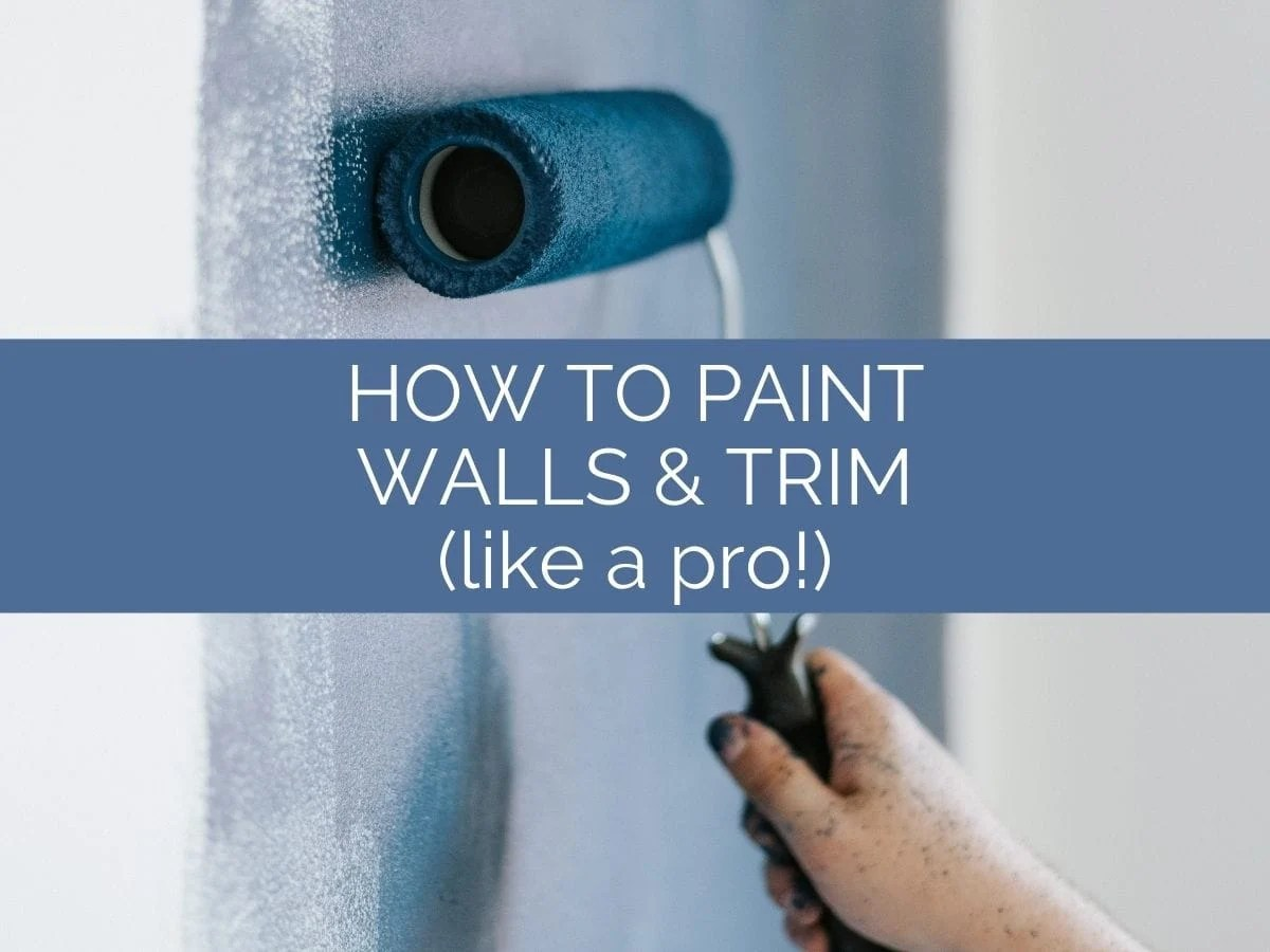 how to paint walls and trim header with text overlay
