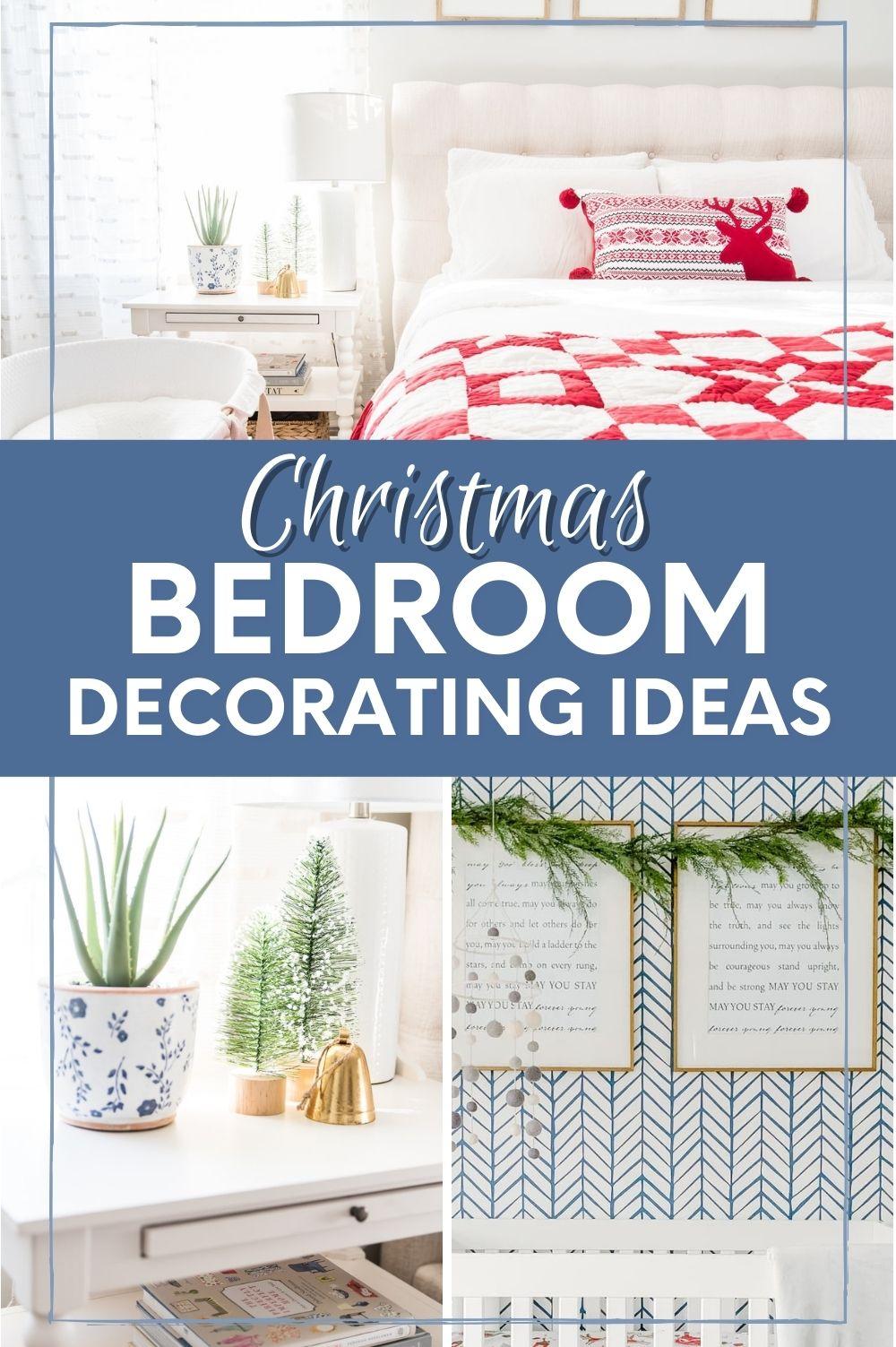 christmas bedroom decor ideas pin