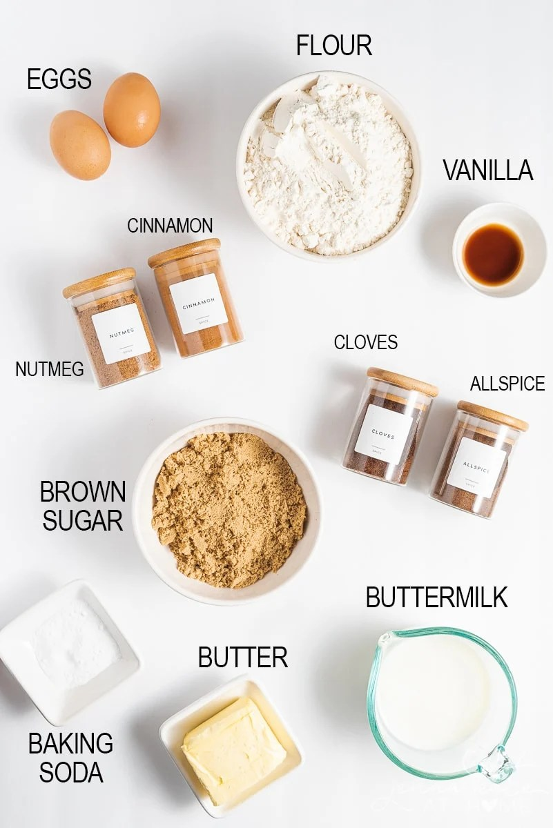 ingredients for old fashioned spice cake recipe