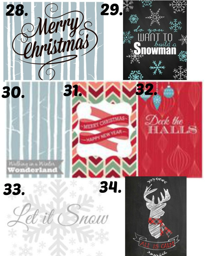 christmas printables 28-34