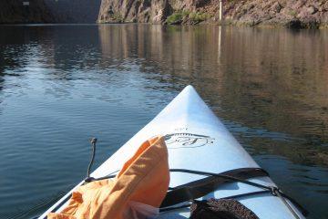 A kayak on the Colorado River