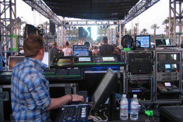 Coachella 2007 control booth, main stage