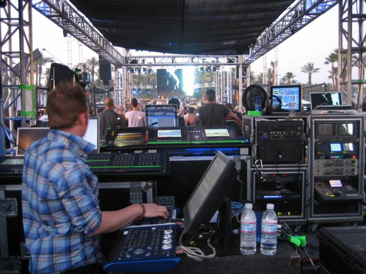 Coachella 2007 sound booth, main stage