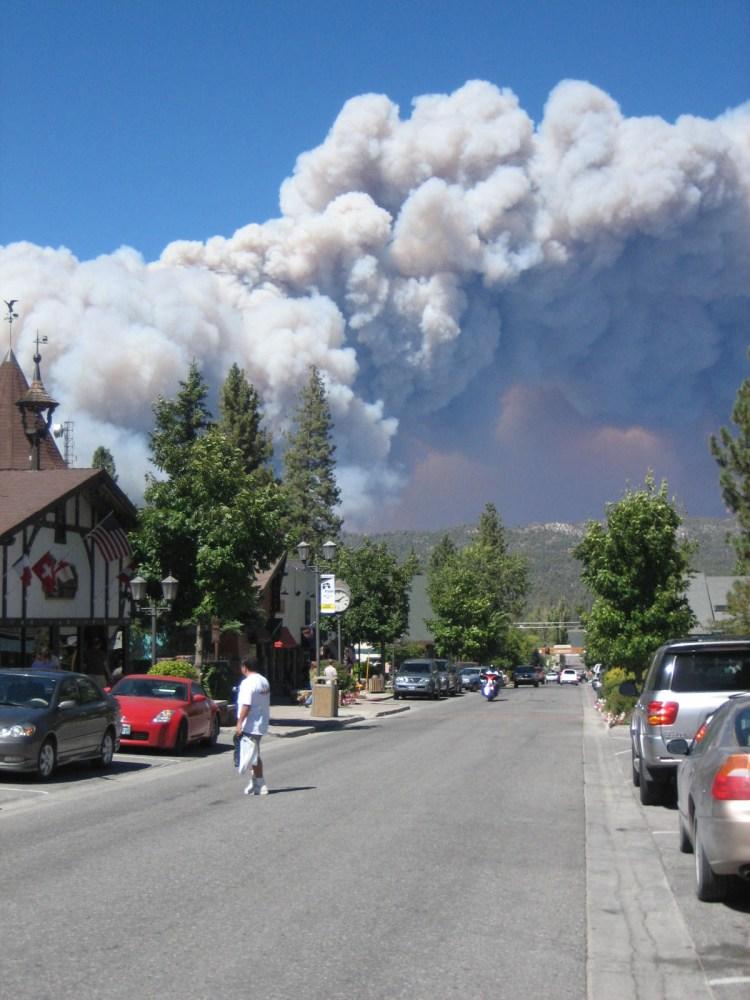 2007 Big Bear fire, California