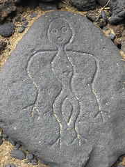 Puoko petroglyphs on the Big Island's Kohala Coast