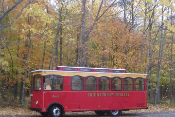 Door County Trolley fall foliage
