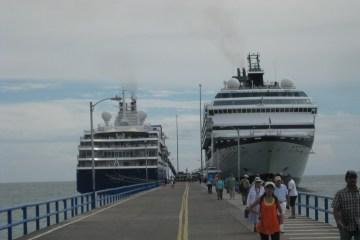 MV Explorer docked in Costa Rica