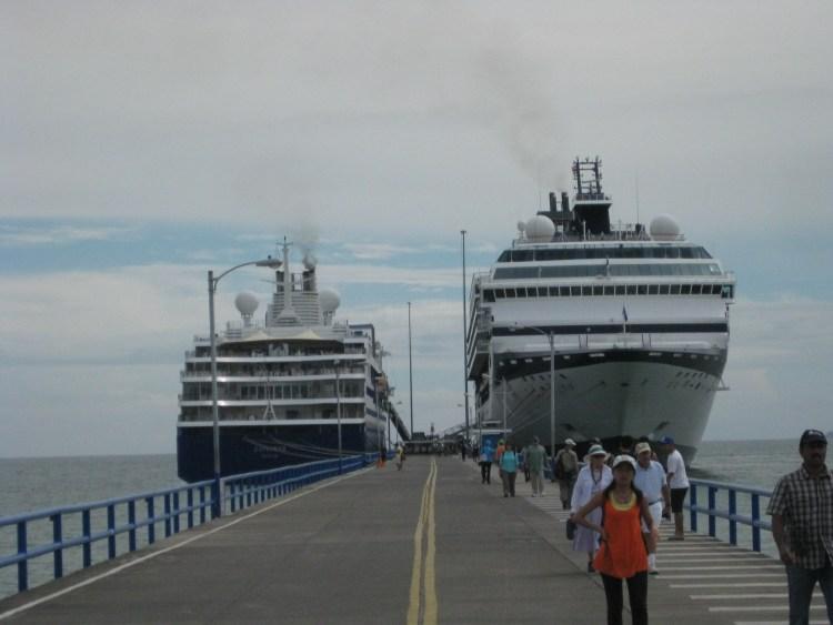 The SS Explorer in Puntarenas, Costa Rica.
