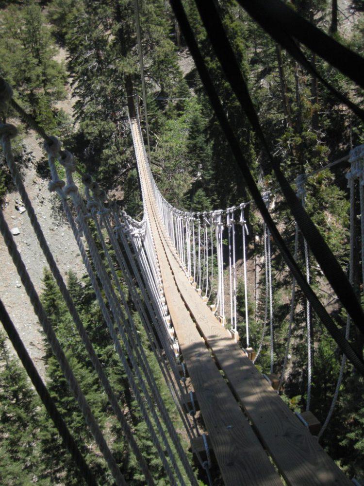Suspension bridge, Wrightwood, California