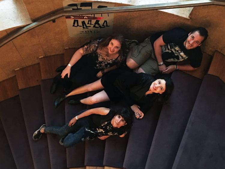 Jenna, Joana, Lluvia and Daniel at Hansa Studios