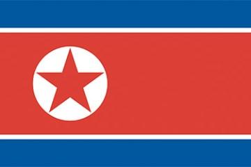 Flag of the Democratic People's Republic of Korea (Ramhongsaek Konghwagukki)
