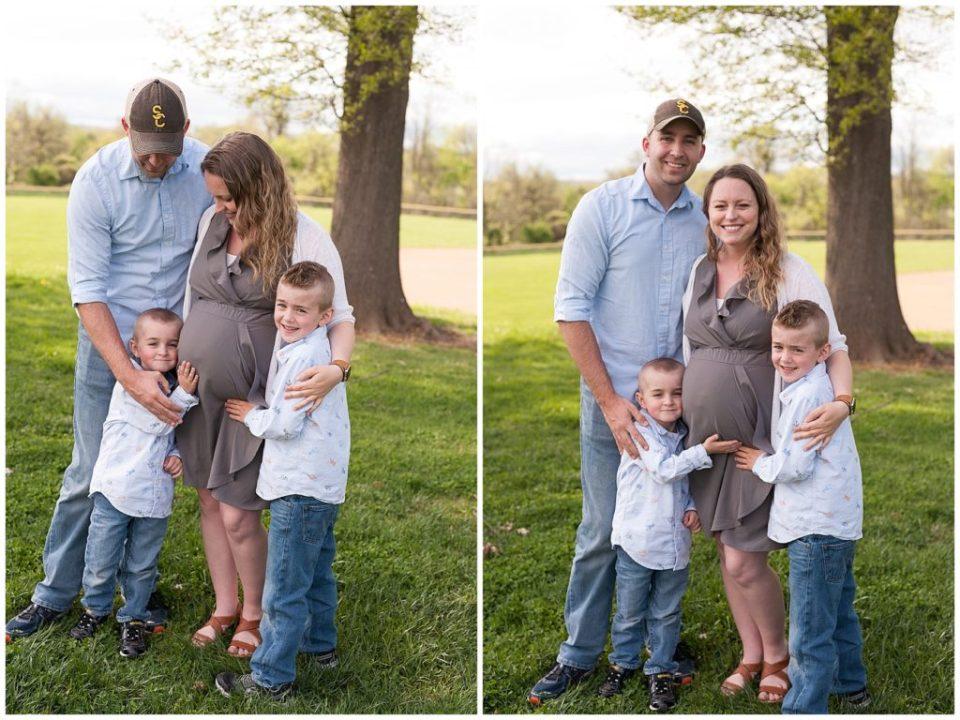 Shriver family maternity photos.