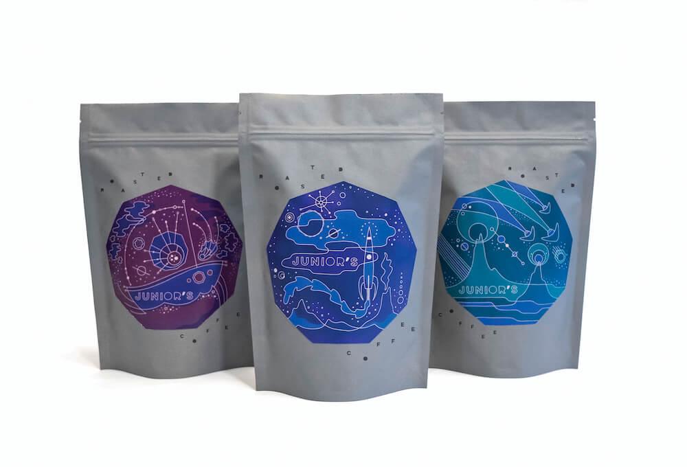 juniors coffee packaging