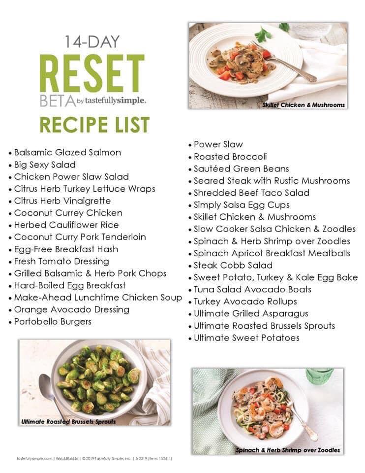 Tastefully Simple 9 Day Reset – Jenn Delle Fave