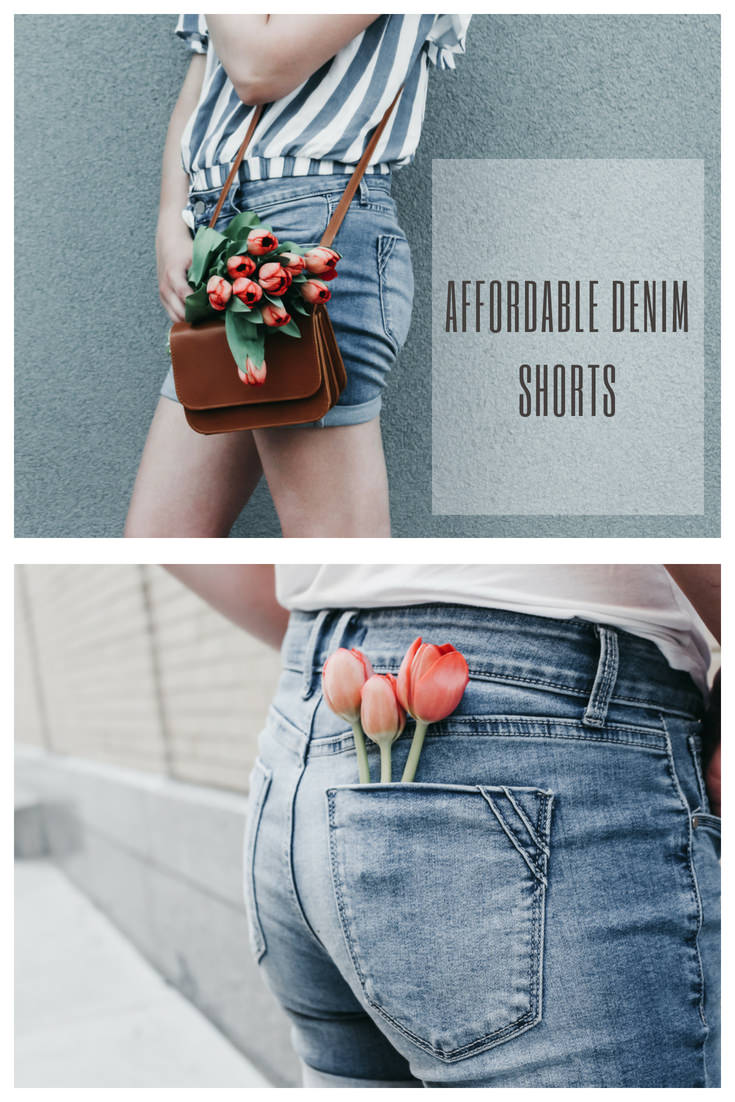 We went on a hunt to find some affordable denim shorts that weren't too short or too low rise. Check out what we found!!