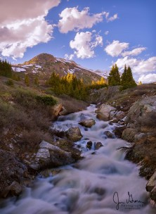 The spring run-off is at full force, as the Roaring Fork River makes its way from its headwaters in the Hunter Frying Pan Wilderness.