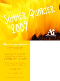 Summer Quarter 2009 Postcard