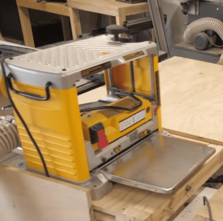 This is our DeWalt planer that we purchased and invested in for our woodworking business.