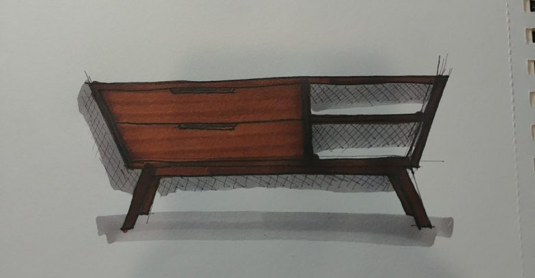 This is an entertainment center that we sketched built by Chris Salomone.