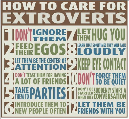 Care for extroverts