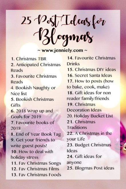 25 Post Ideas for Blogmas