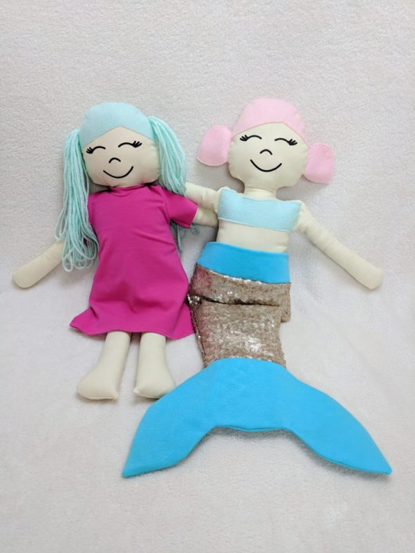 mermaid and regular doll