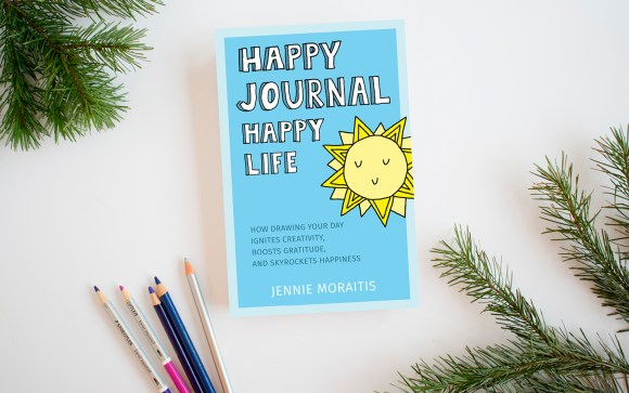 Get the Happy Journal, Happy Life book today! You'll learn what a happy journal is, get ideas on how to start your own, and with the blank journal pages in the back of the book, you'll be able to start immediately. You're going to LOVE this