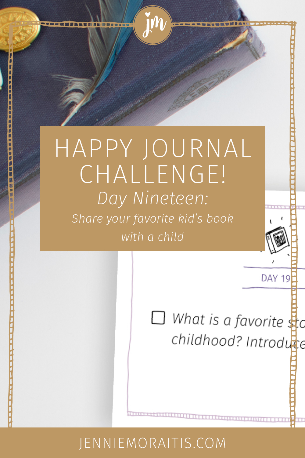 What's your favorite story from childhood? Today for the happy journal challenge, we are going to share that story with a child in our life. Time to pass on the love!