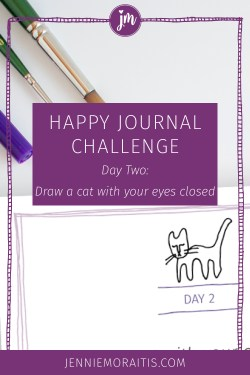 Today we're going to draw a cat in a way that will kick out perfectionism! Click through for the video. :)
