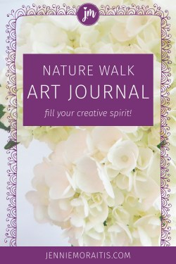 I love the idea of taking nature walks and transferring them into art journal inspiration. Today's challenge was to take a walk in nature and gather bits of inspiration to add to my journal. So glad I did this! #artjournal