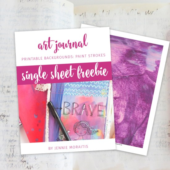 I love using printable art journal backgrounds to quickly add embellishments to my journals and cards. And these are beautiful—straight from the artists' paintings and art journals! Love these!