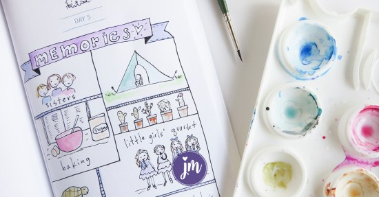 What a cute idea to draw your happy memories in an art journal! I love this! #artjournalprompts