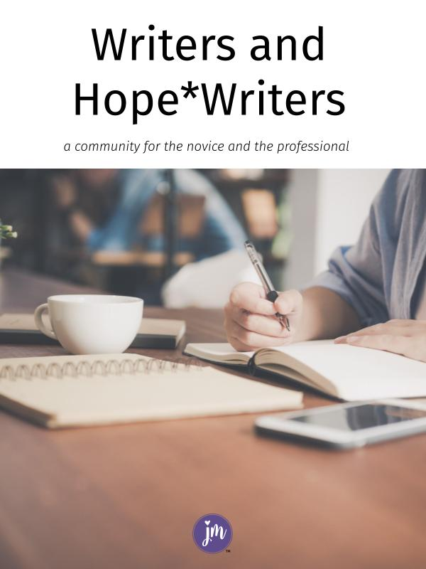 Here's my look into the writing community called hope*writers. I love that it is for beginning writers all the way to professionals.
