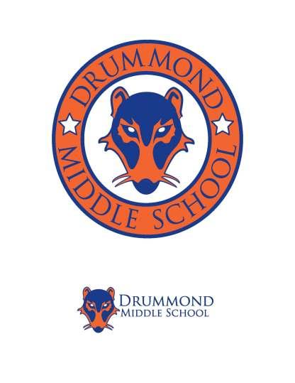Drummond Middle School Rebranding; Medium-Graphic Design