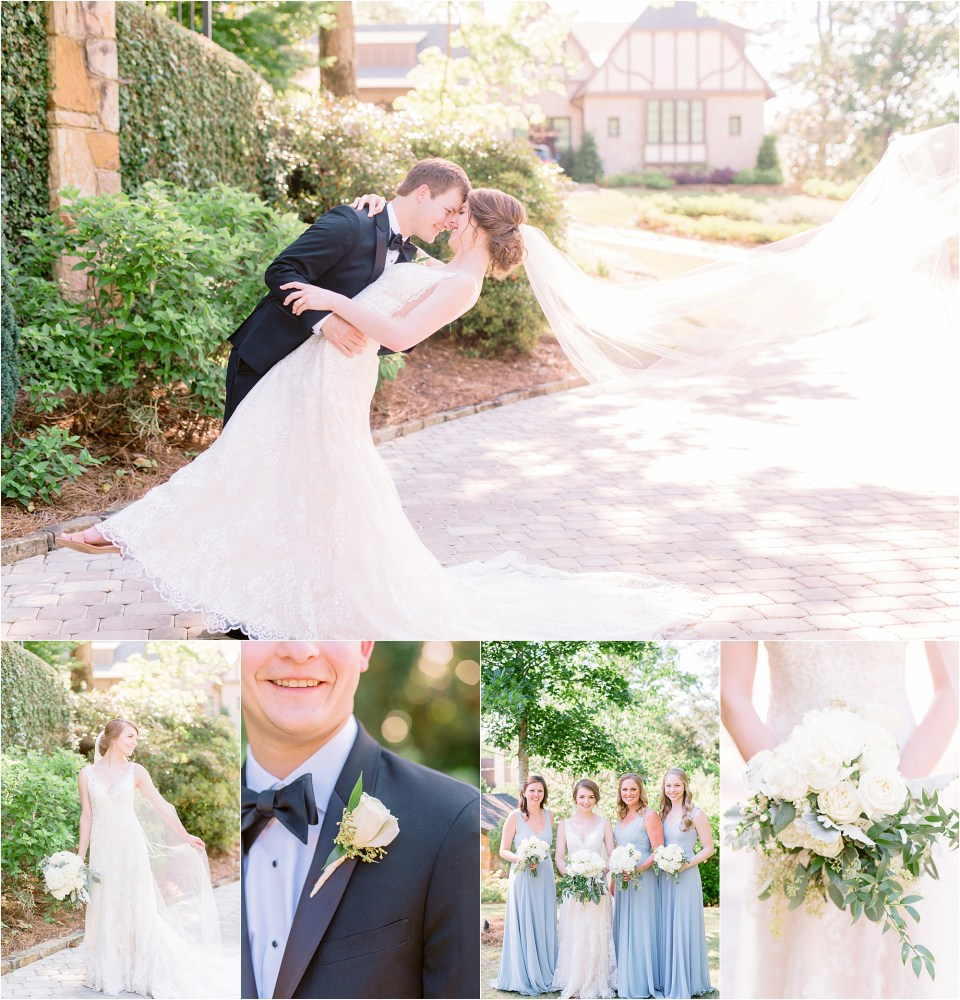 bride and groom's wedding photos of their backyard Birmingham, Alabama wedding.