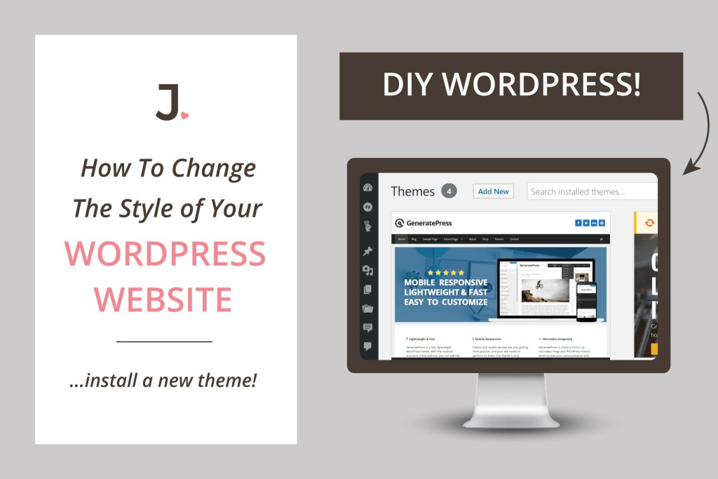 If you are new to WordPress and want to know how to install WordPress themeon your new site, keep reading because in this post I will show you how to instantly update the style of your website at Jennifer-Franklin.com.