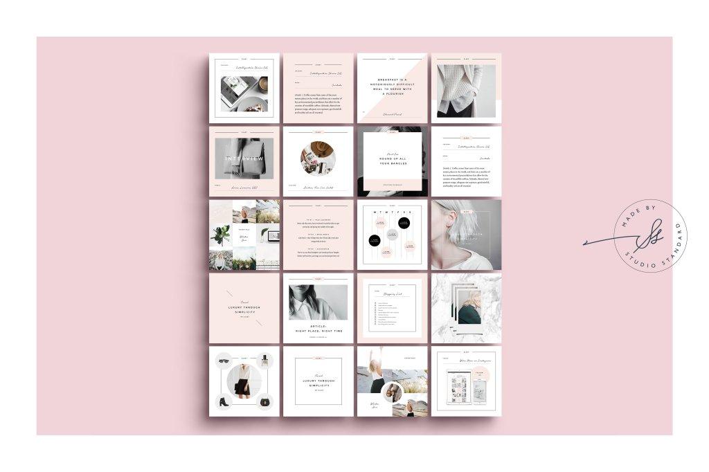 Photoshop feminine modern social media templates for Instagram, Facebook, Pinterest. Read more at Jennifer-Franklin.com.