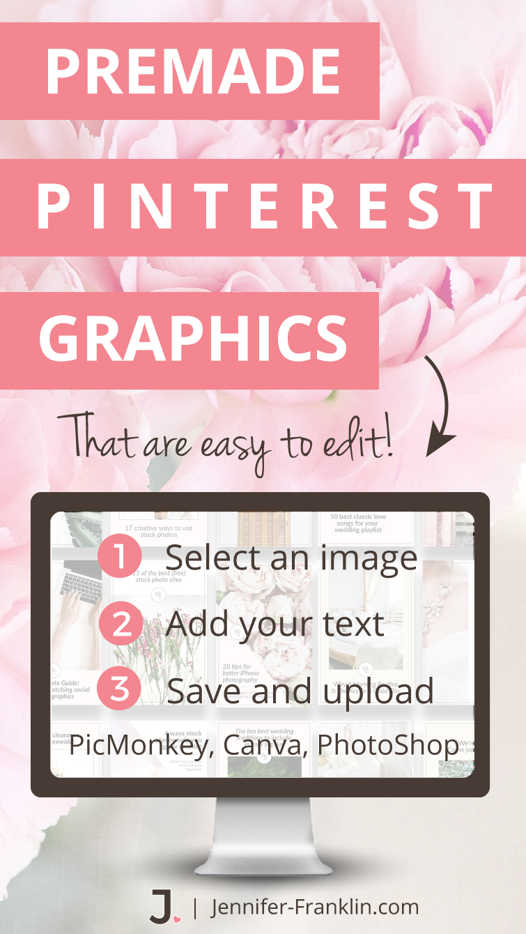 Has the daunting task of creating pin-worthy Pinterest graphics been holding you back?Today is your lucky day! I have rounded up 10 premade Pinterest graphics packs for female entrepreneurs to help you kick-start your Pinterest pinning!